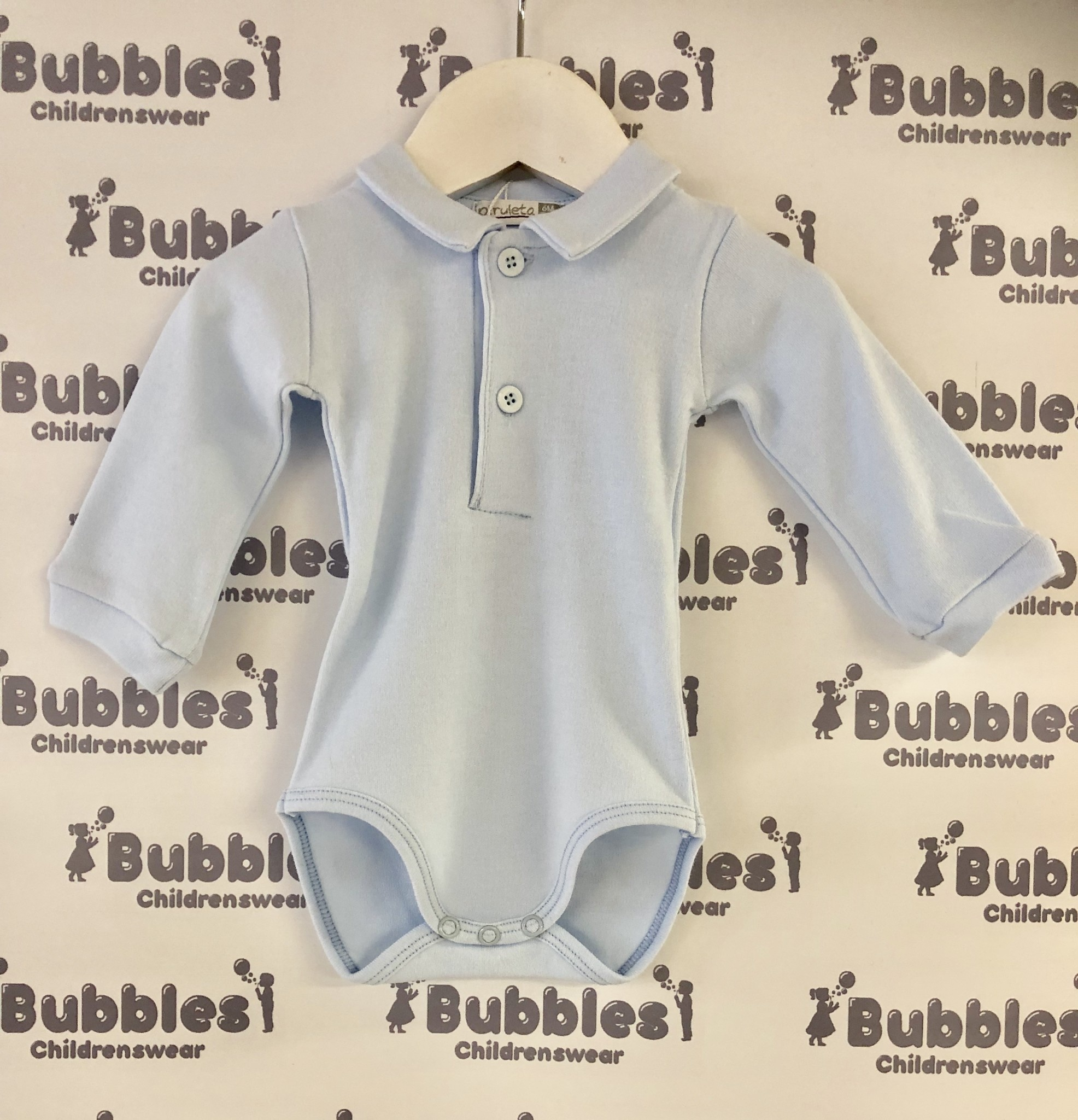 Piruleta Piruleta Pale Blue Polo Shirt Body