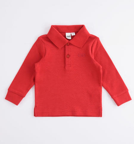 Ido Ido red long sleeve polo shirt