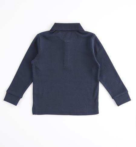 Ido Ido Navy Long Sleeve Polo shirt