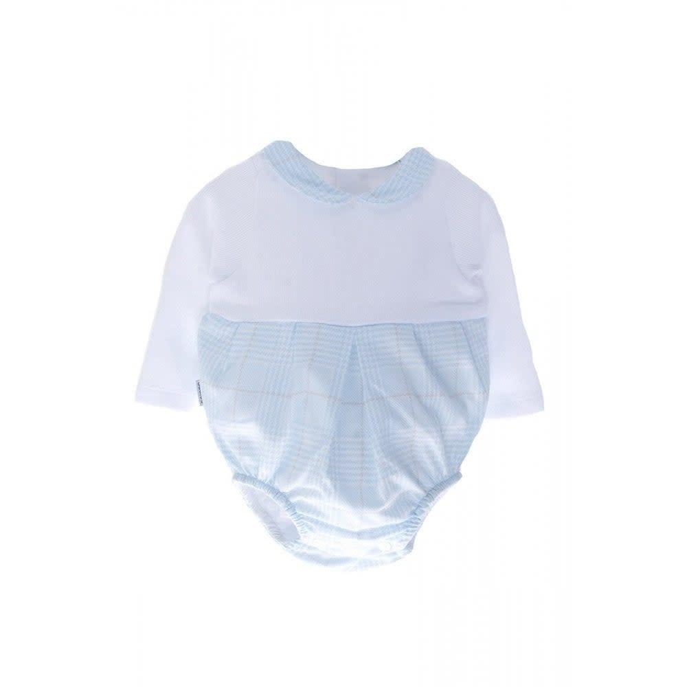 Babidu Babidu Long Sleeve Babu Bodysuit, Peter pan Collar, 11261