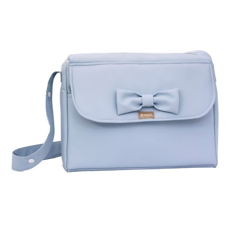 Babidu Babidu Blue Faux Leather Bow Bag 90102