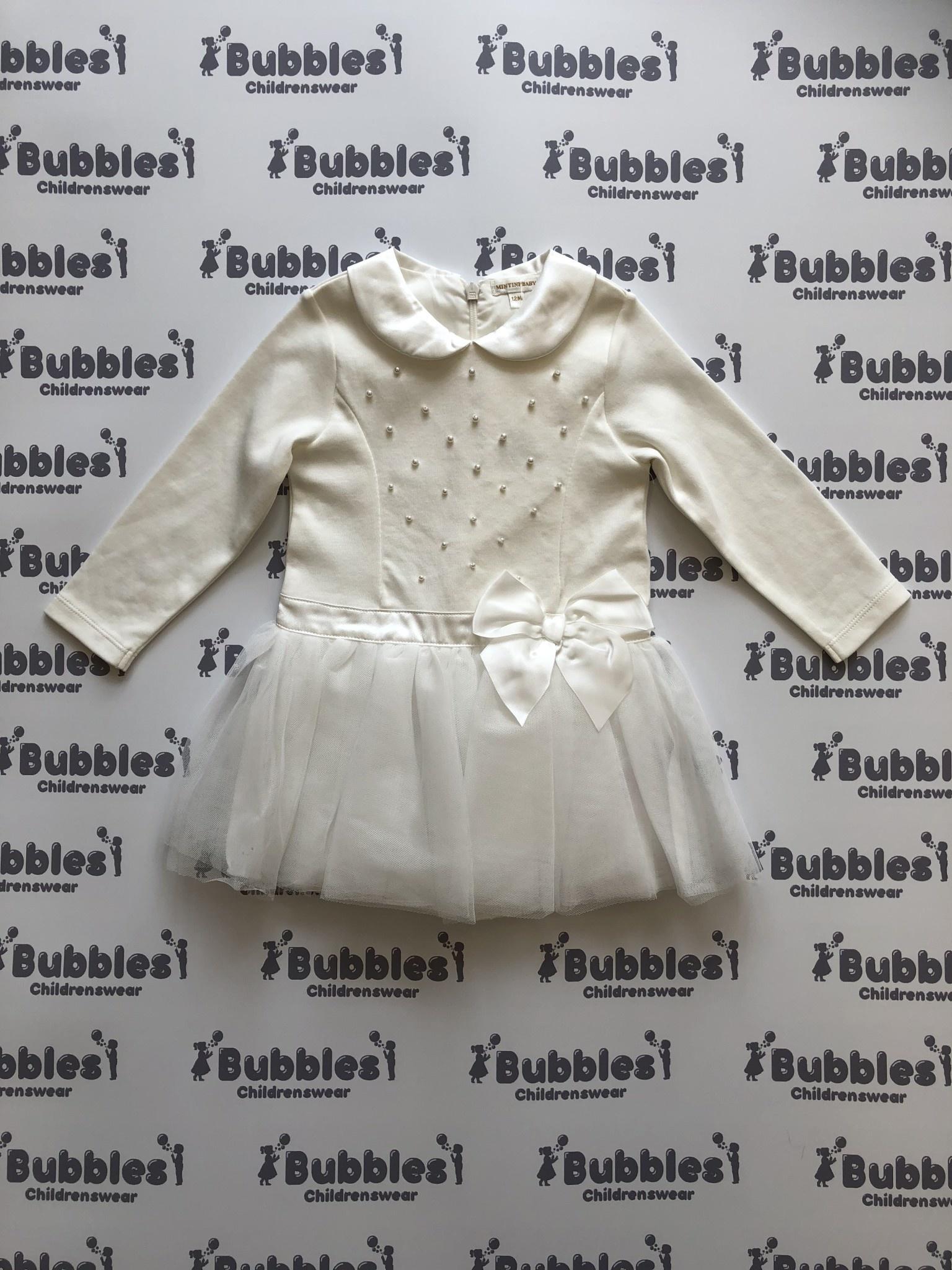Mintini Mintini Cream Dress with Tutu skirt