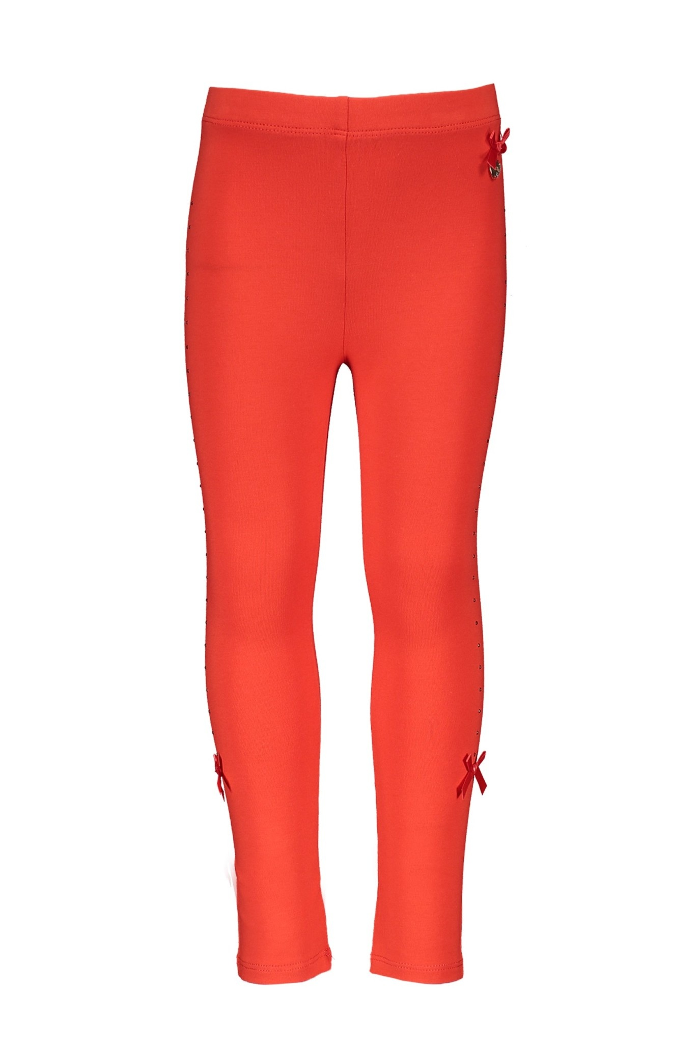 Lechic Le Chic Red Leggings with Rhinestones