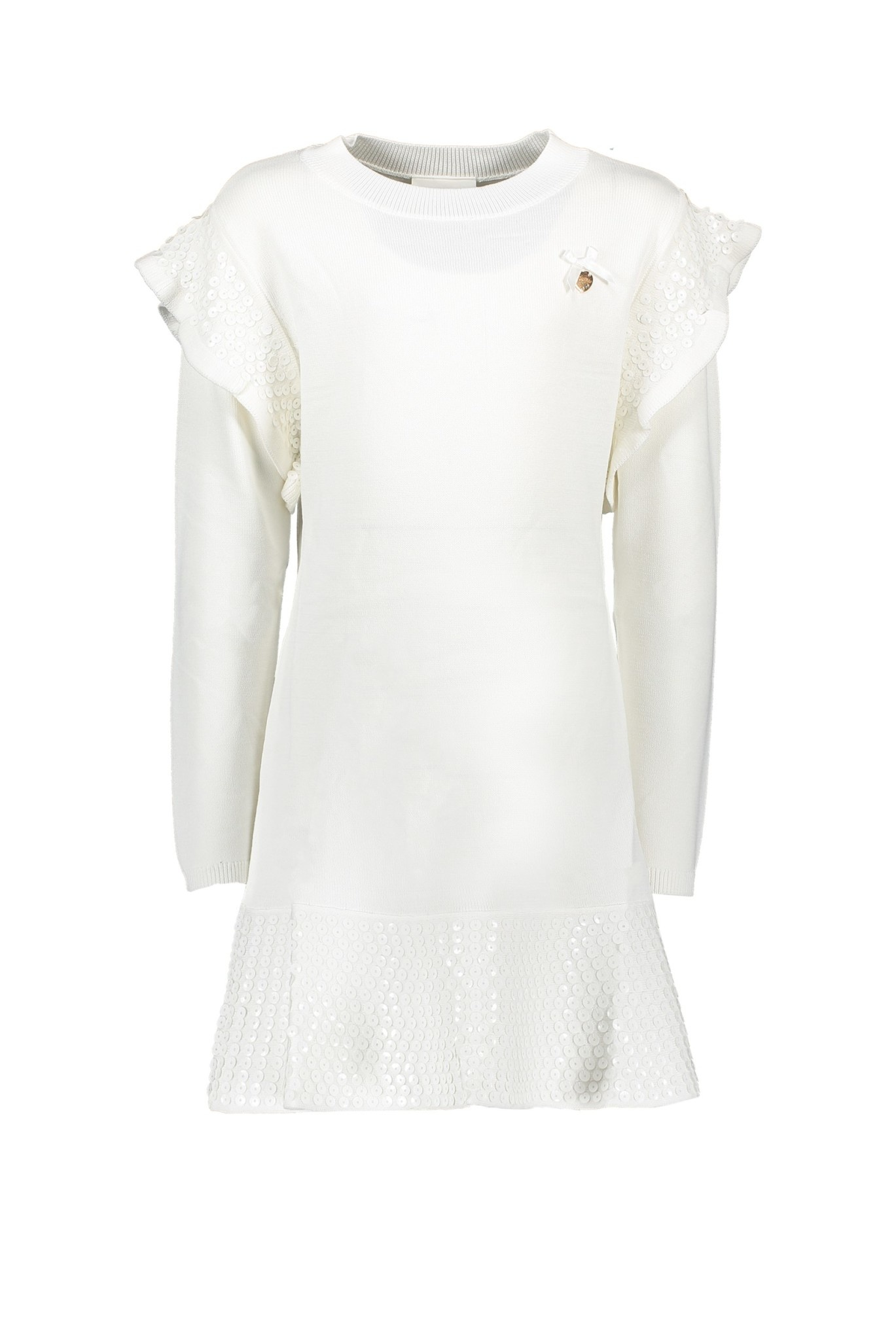 Lechic Le Chic Off White Dress with Sequins