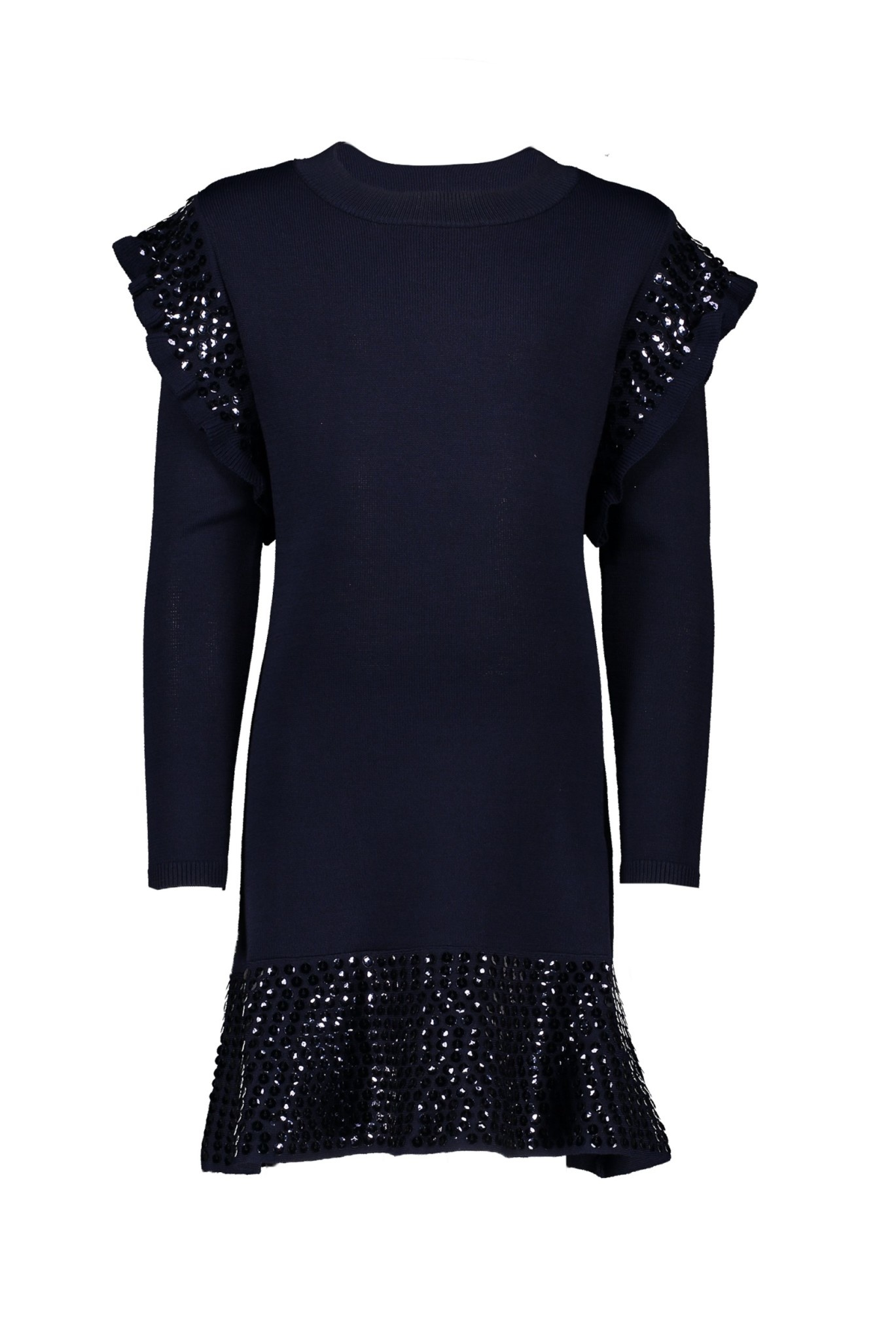 Lechic Le Chic Navy Knit Dress with Sequins