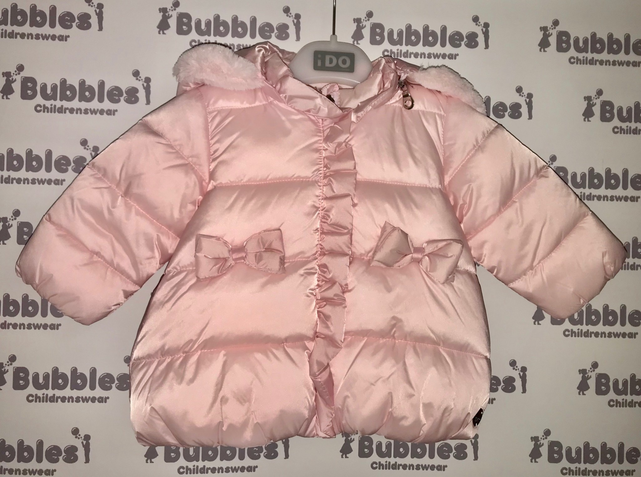 Ido iDO Pink Padded Jacket with Bows