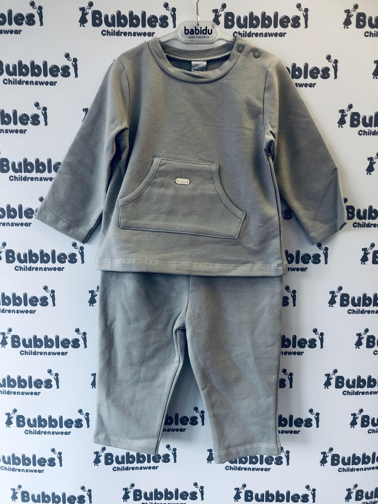 Babidu Babidu Pale Grey Jersey 2 Piece 19460