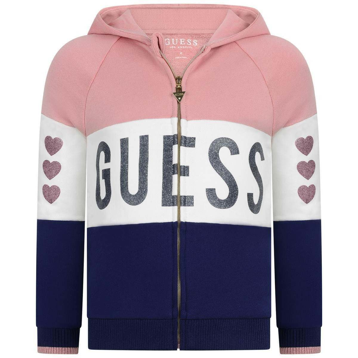Guess Guess Girls Pink Heart Jogger Set