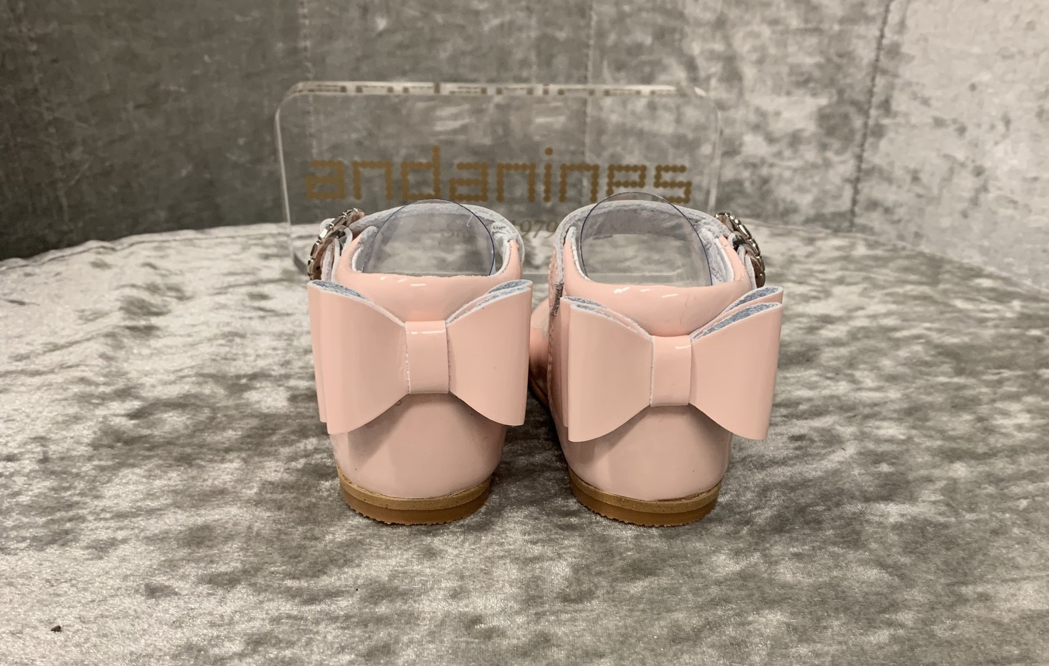 Andanines Andanines Pink Shoes with Double Bow Back