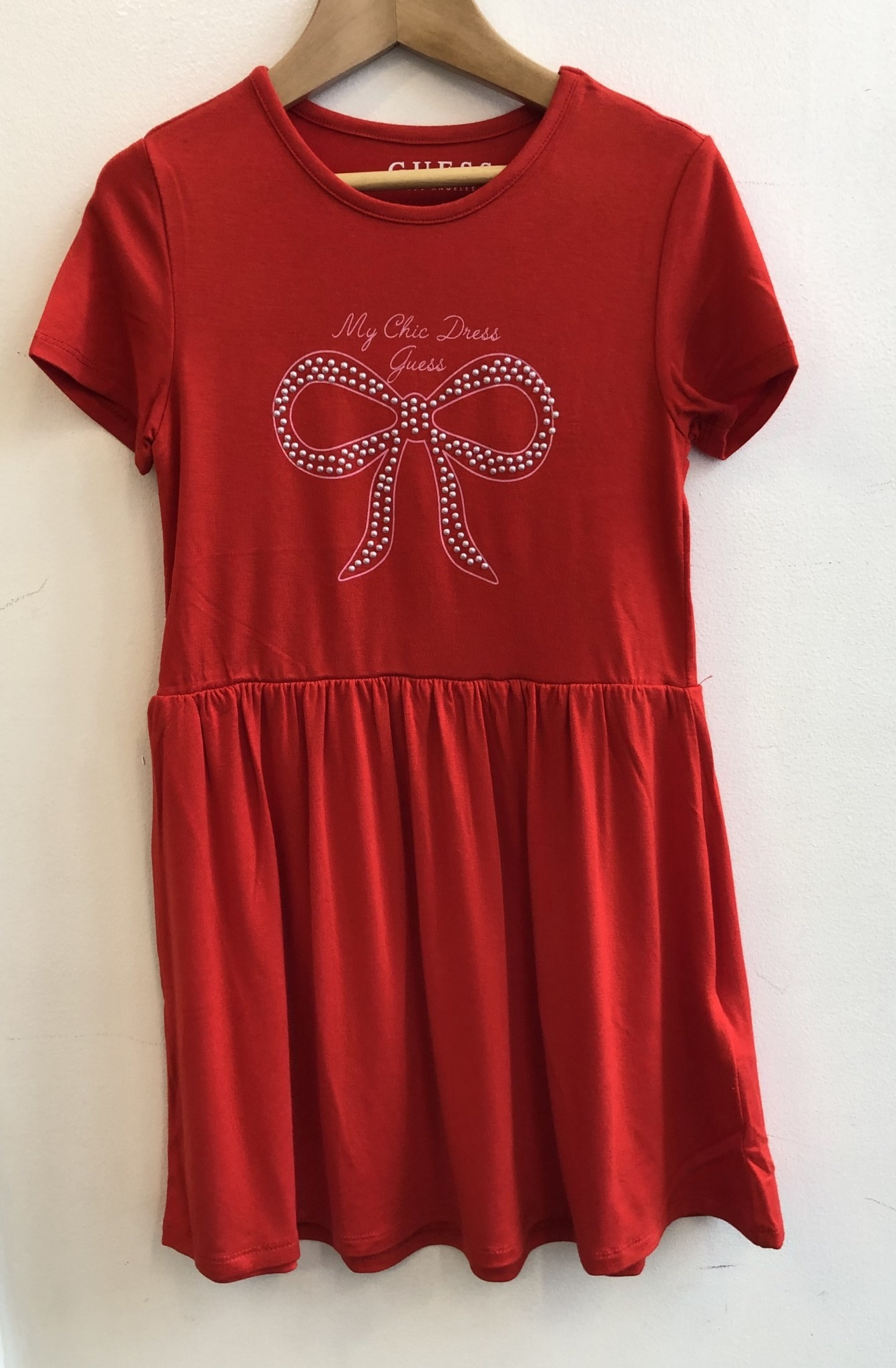 Guess Guess Red Dress With Bow Detail