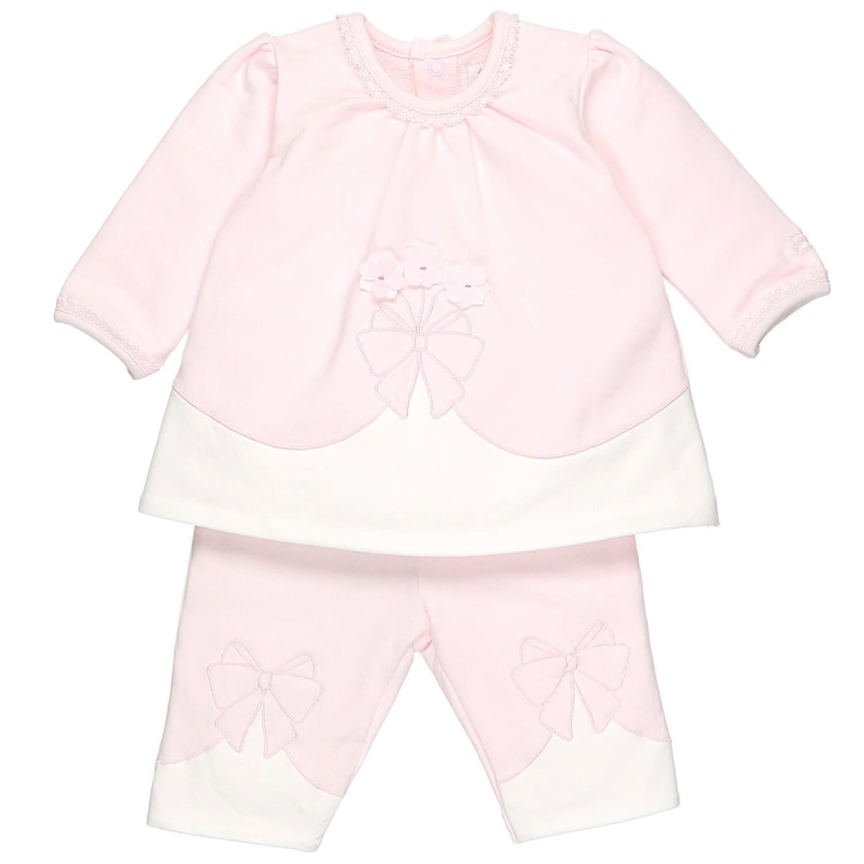 Emile et Rose Emile Et Rose 6428PP Pink Set With Fowers