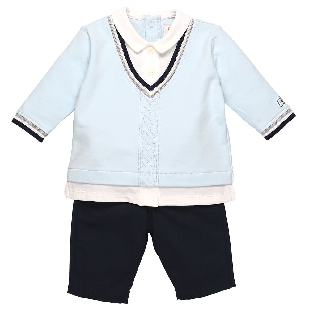 Emile et Rose Emile Et Rose 6441PB Blue Jumper and Trousers Set