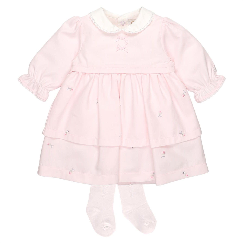 Emile et Rose Emile Et Rose 8374PP  Pink Smock Dress