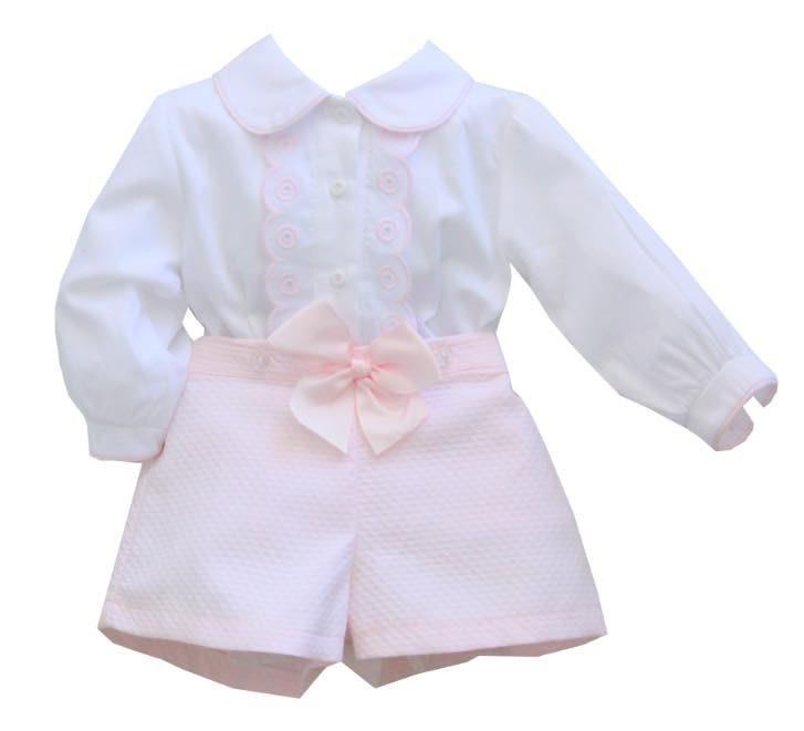 Pretty Originals Pretty Originals Pink Short Set & Hairband