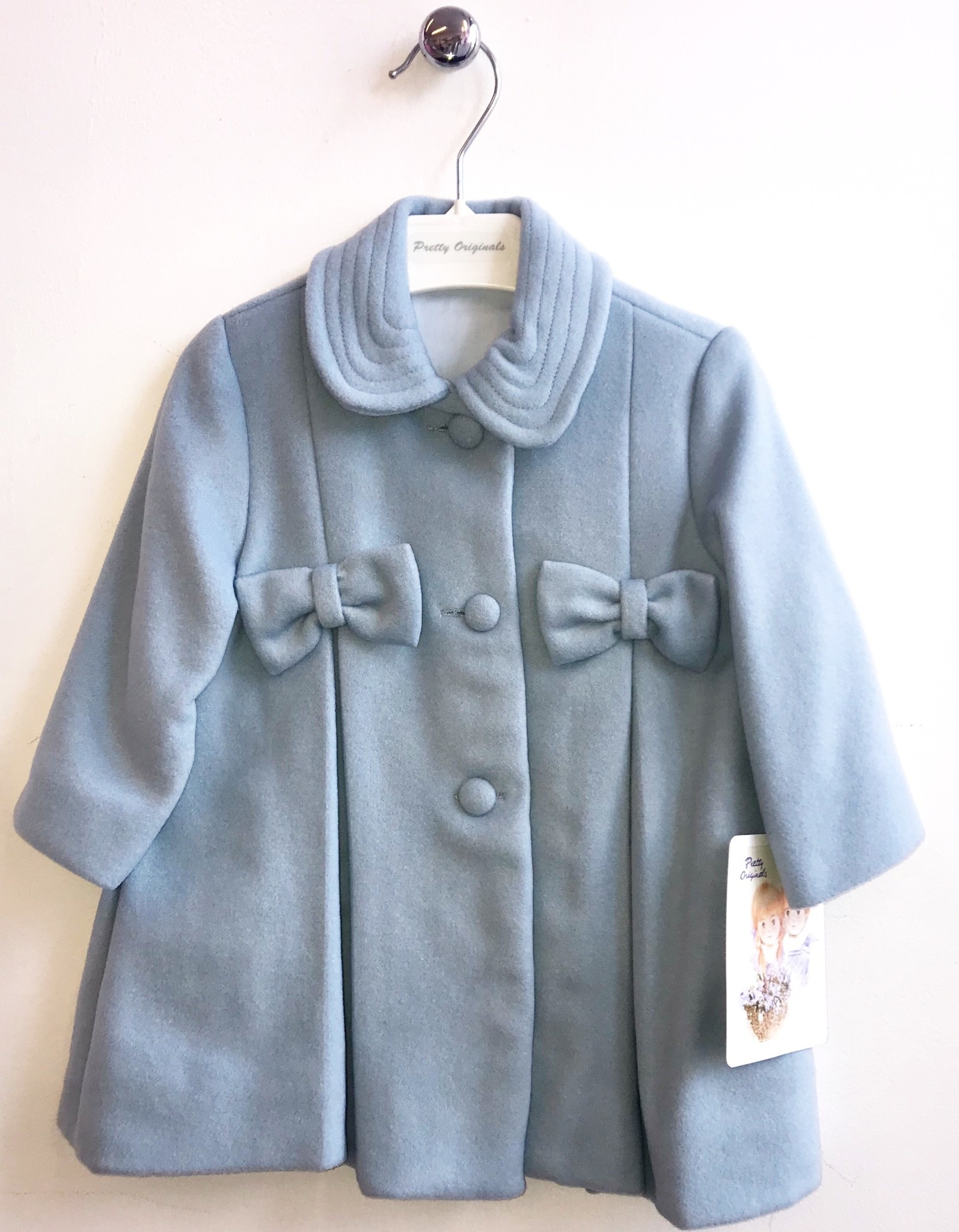 Pretty Originals Pretty Originals Blue Coat and Hat