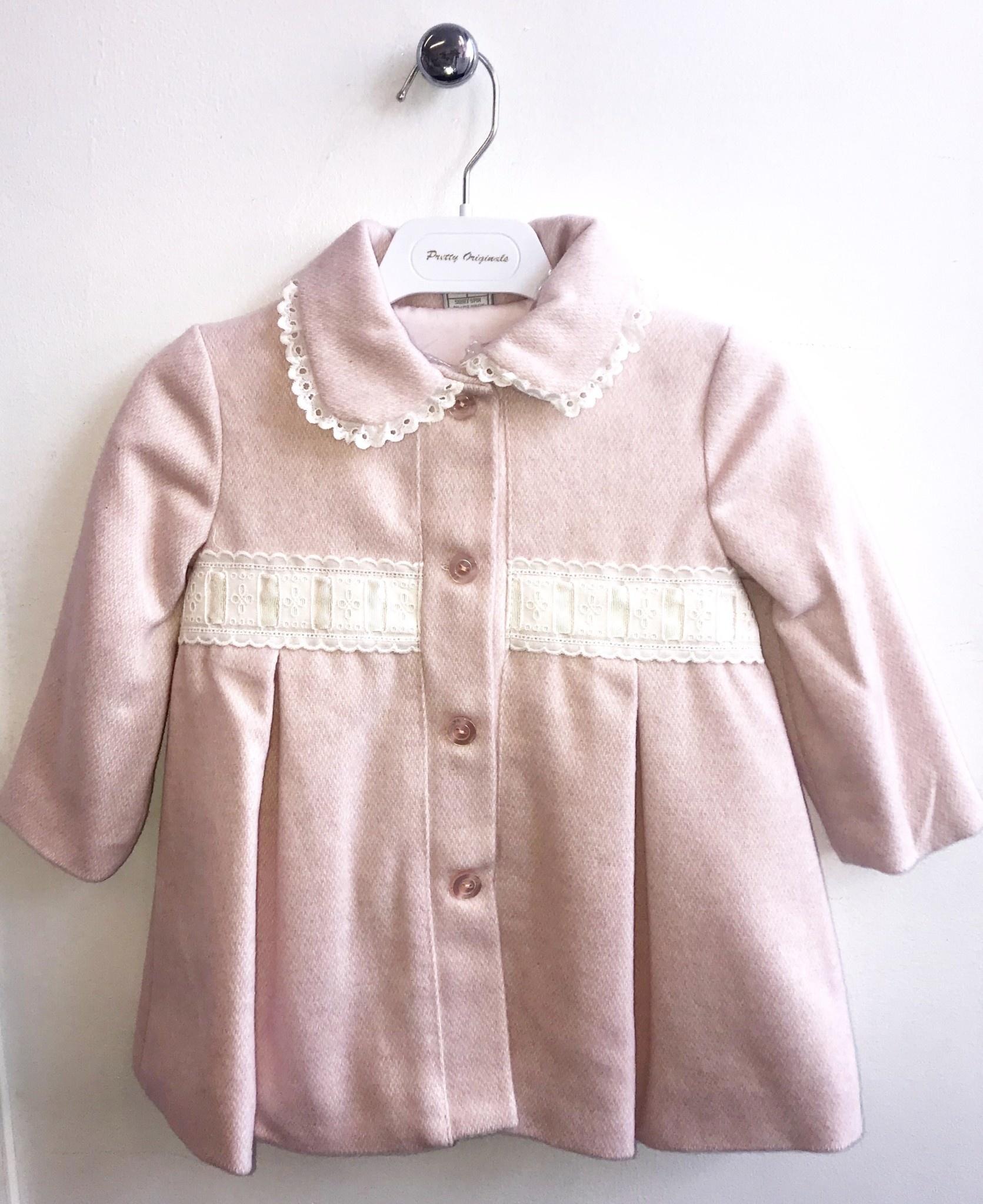 Pretty Originals Pretty Originals Pink Coat with Bows