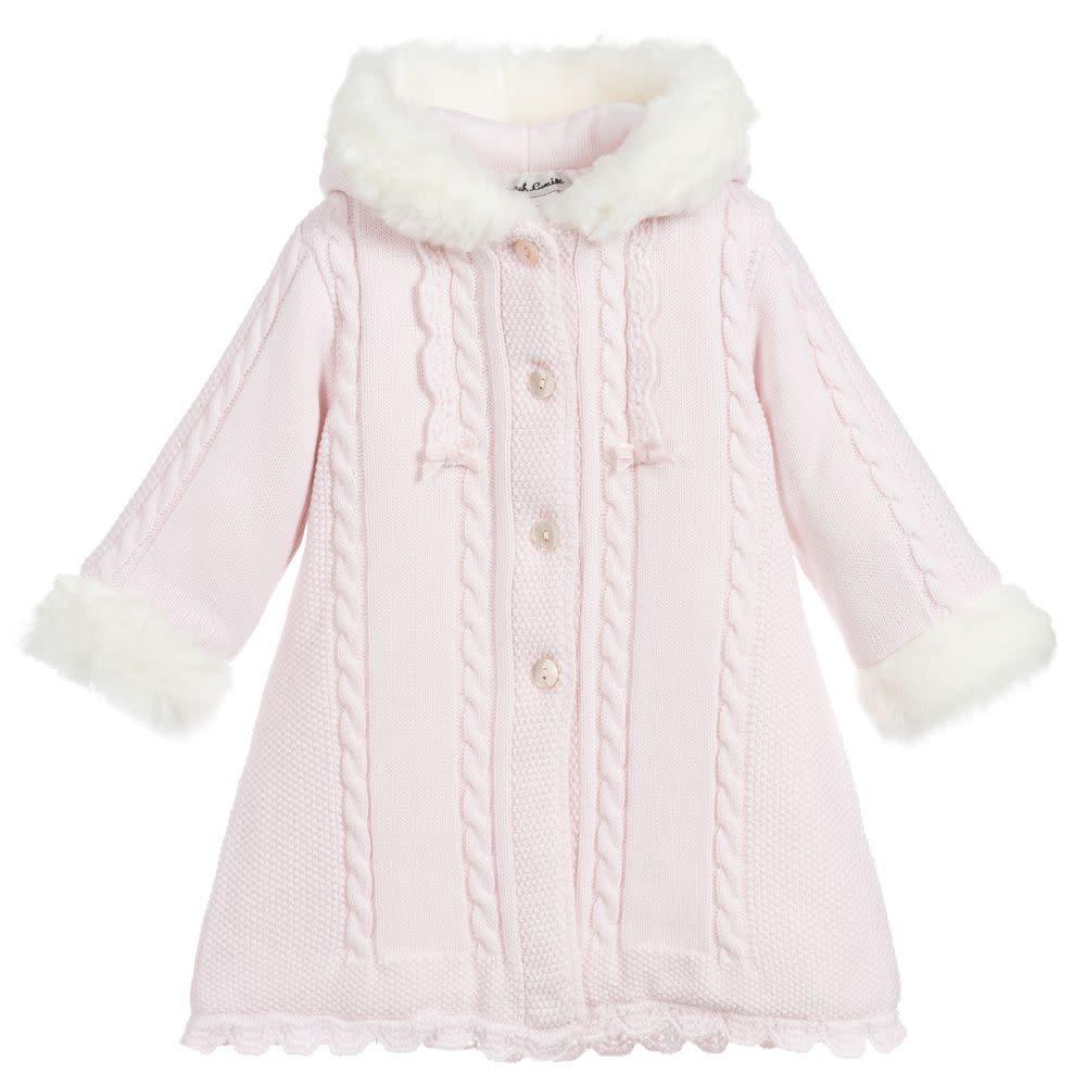 Sarah Louise Sarah Louise 8098 Pink Knit Coat