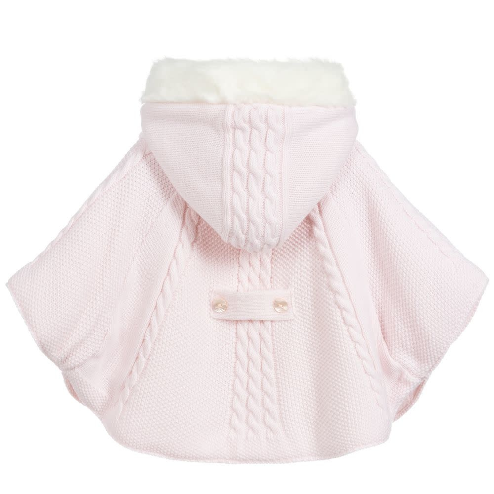 Sarah Louise Sarah Louise 8096 Pink Knit Poncho
