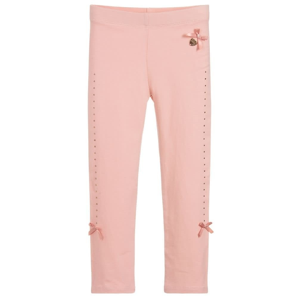 Lechic Le Chic Pink Leggings With rhinestones
