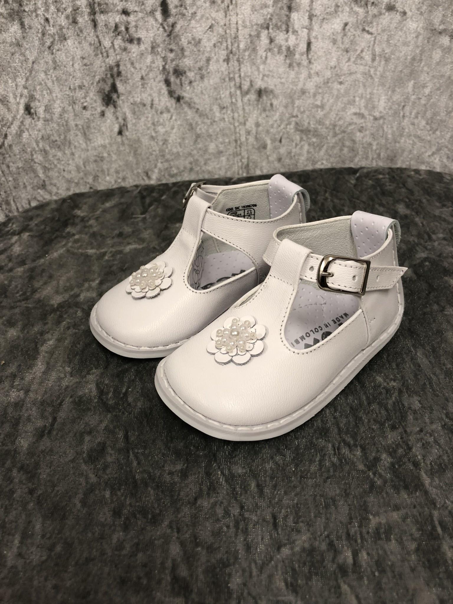 Pex Pex Eddie Girls Shoes With Bead Flower
