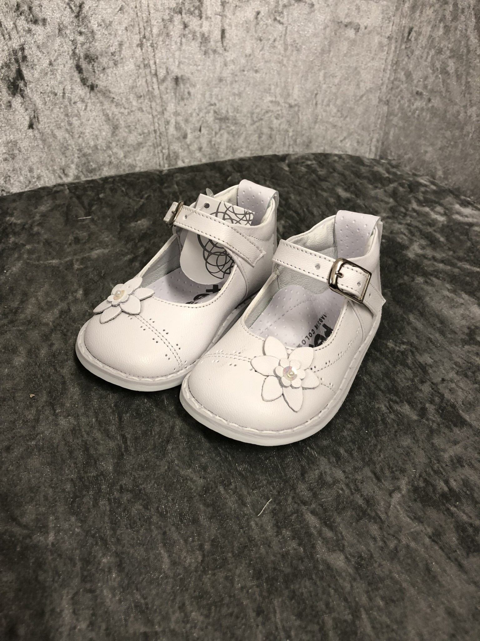 Pex Pex Meryl Girls Shoe With Flower Detail
