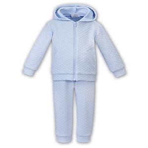 Sarah Louise Sarah Louise Pale Blue 2 Piece Suit With Hood