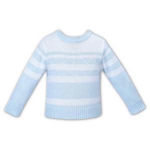 Sarah Louise Sarah Louise Dani D09391 Blue & White Sweater