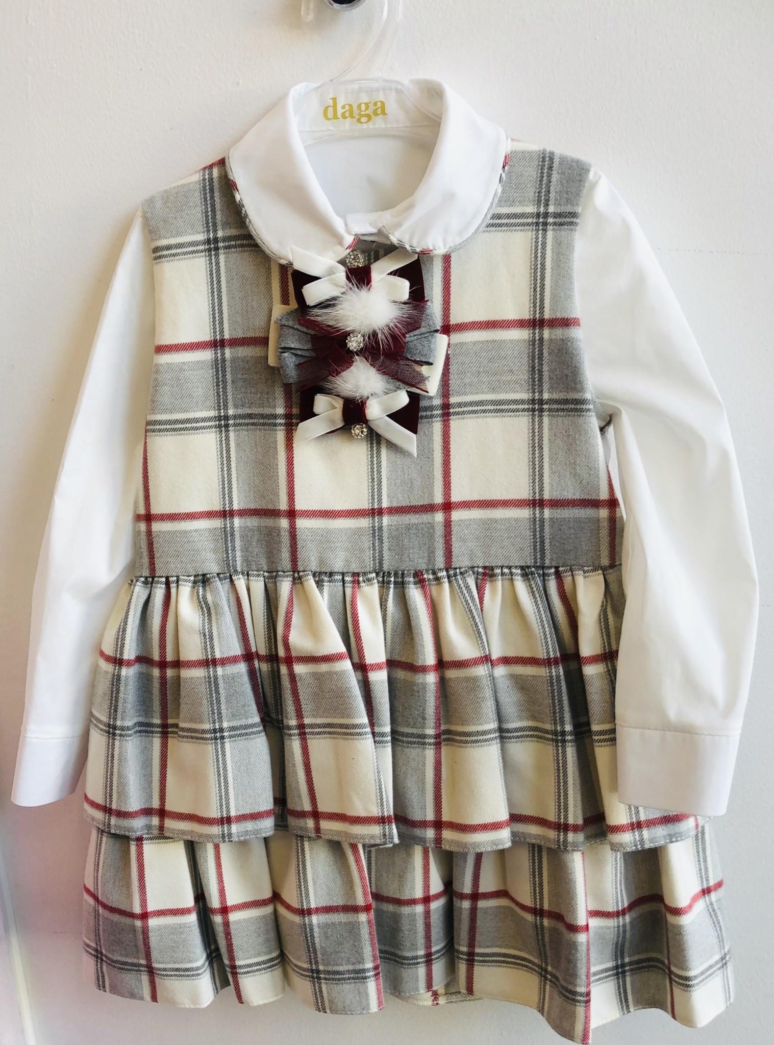Daga Daga Tartan Dress & Shirt 2 Piece Set