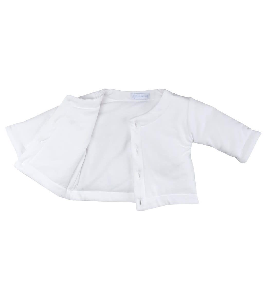 Larajinha Laranjinha White Padded Cardigan
