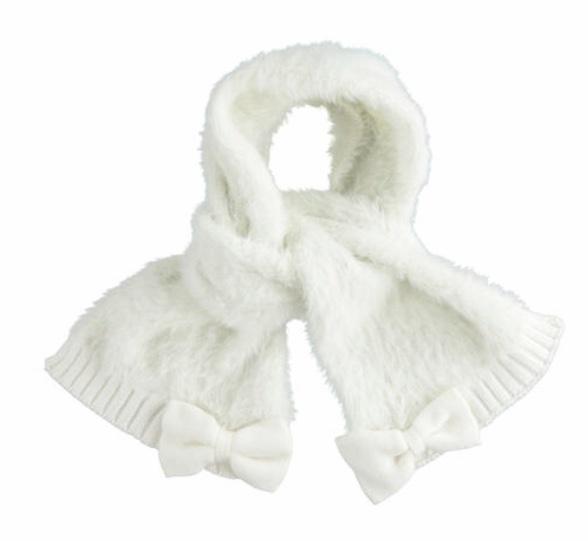 Ido iDO Cream Fluffy Hat & Scarf