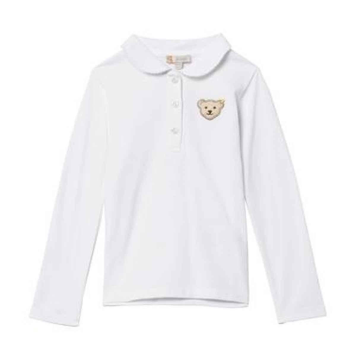 Steiff Stiff Girls White Polo shirt
