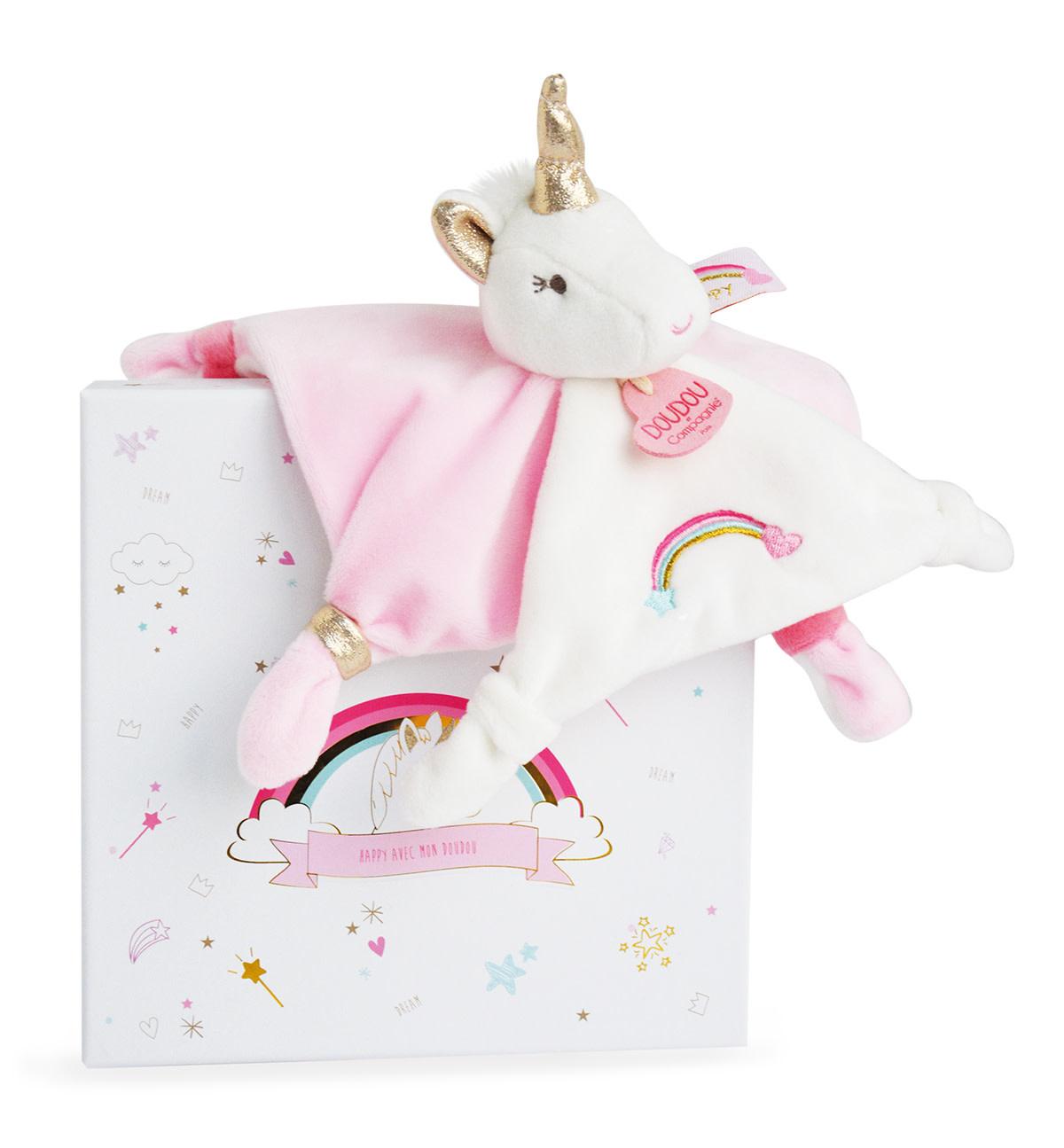 Doudou White Unicorn Super Soft Comforter