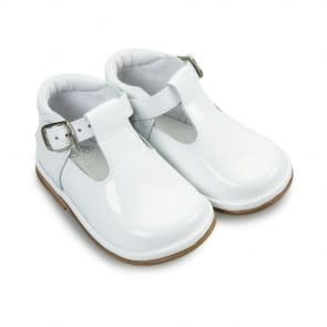 Borboleta Borboleta Fernando White Patent Boys Shoe