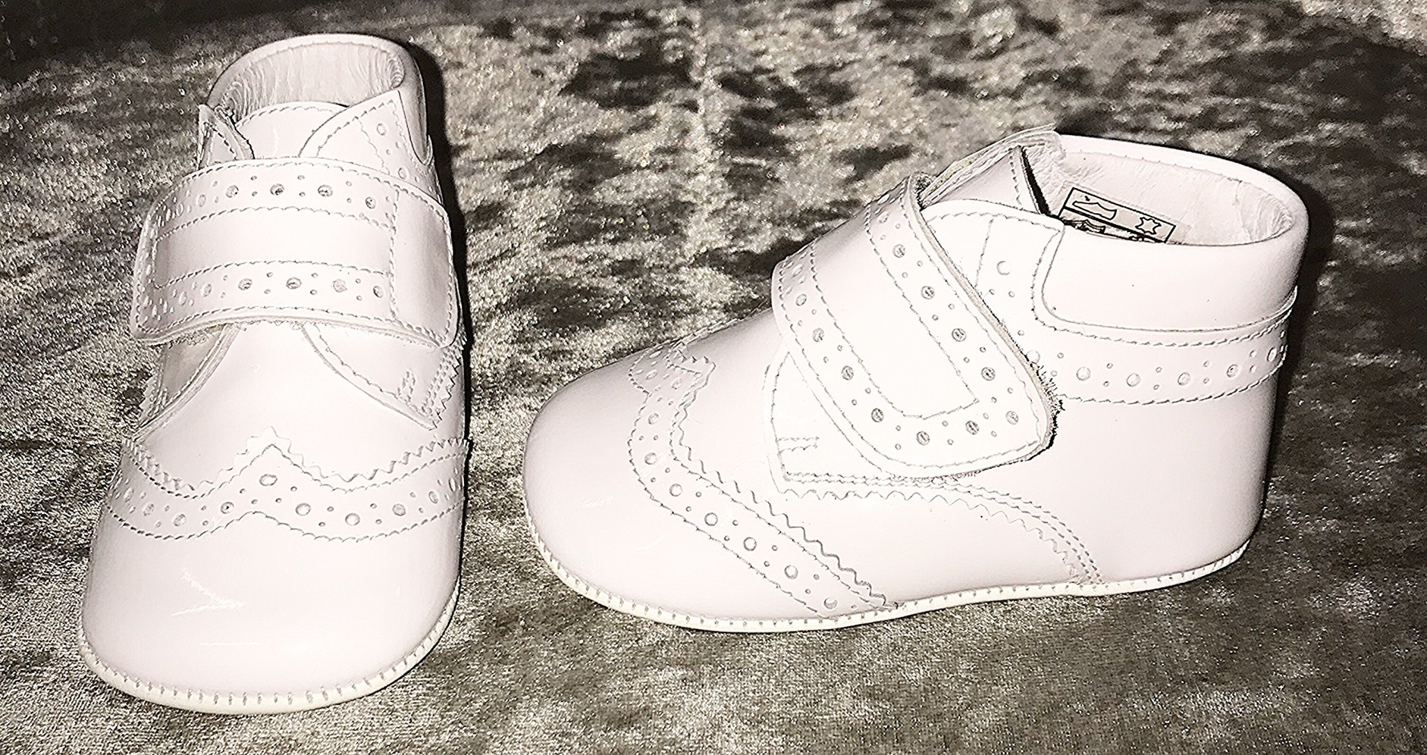 Andanines Andanines White Patent Pram Boots