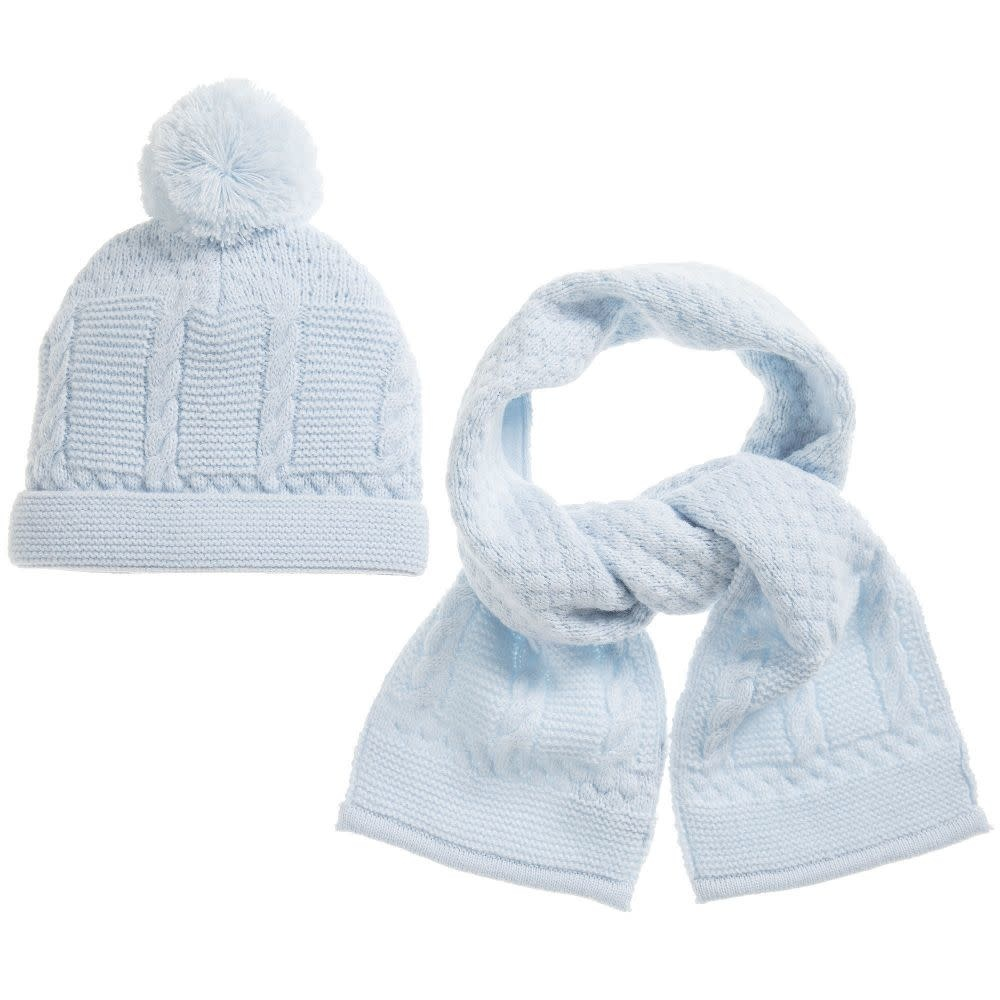 Sarah Louise Sarah Louise Boys Pale Blue Hat & Scarf Set
