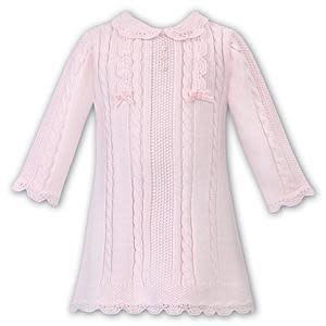 Sarah Louise Sarah Louise 008091 Pink Knit Dress