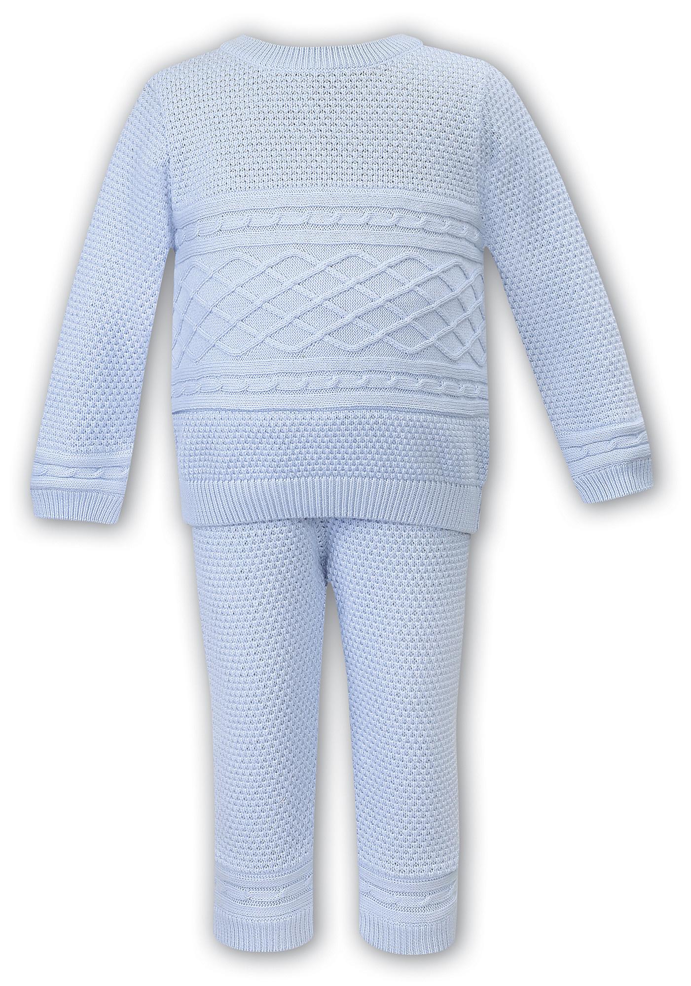 Sarah Louise Dani D09351 Pale Blue 2 Piece Knit Set
