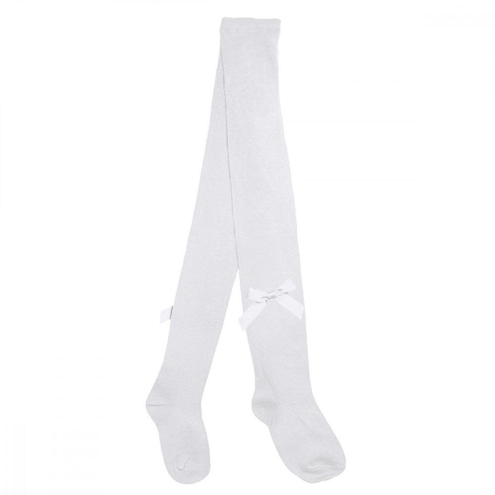 Pex Pex White Tights With Bow Detai