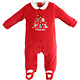 Ido Ido Red Velour Christmas Romper
