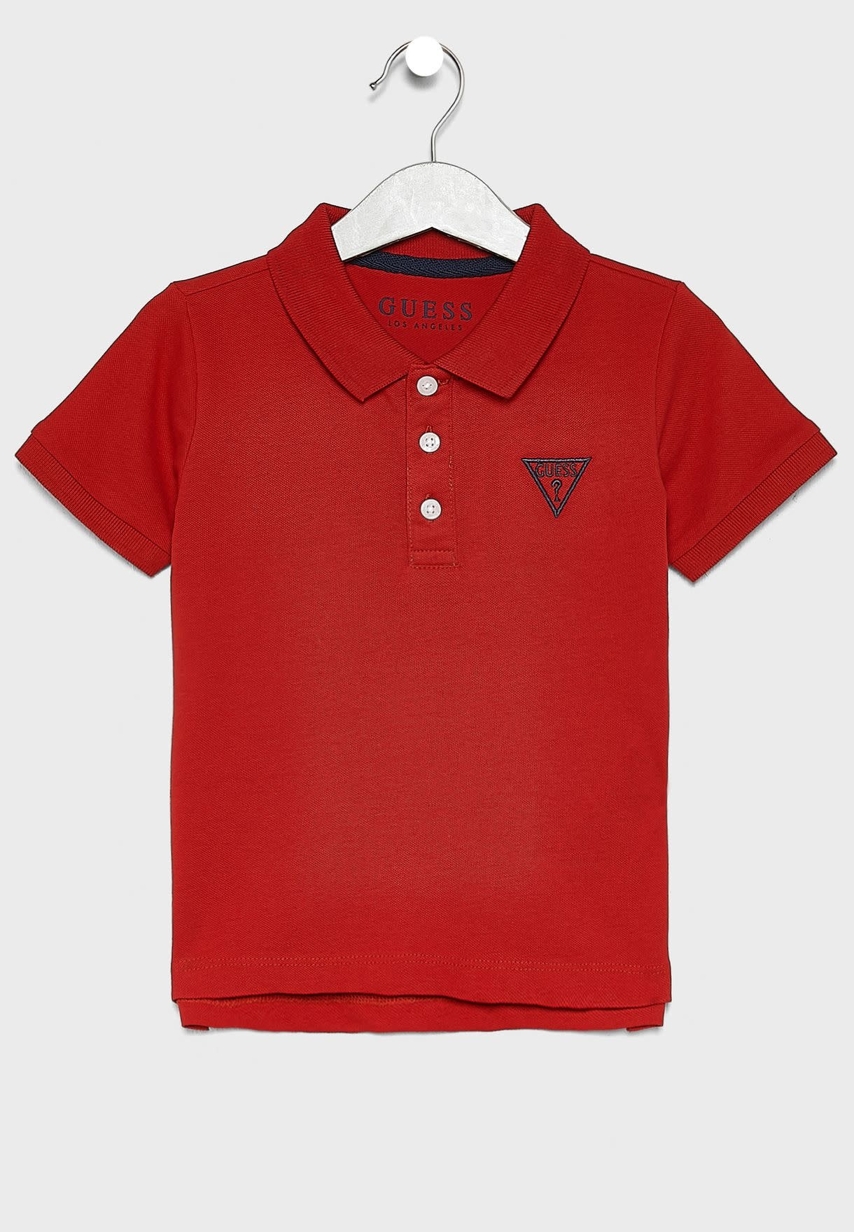 Guess GUESS BOYS RED POLO-SHIRT WITH LOGO