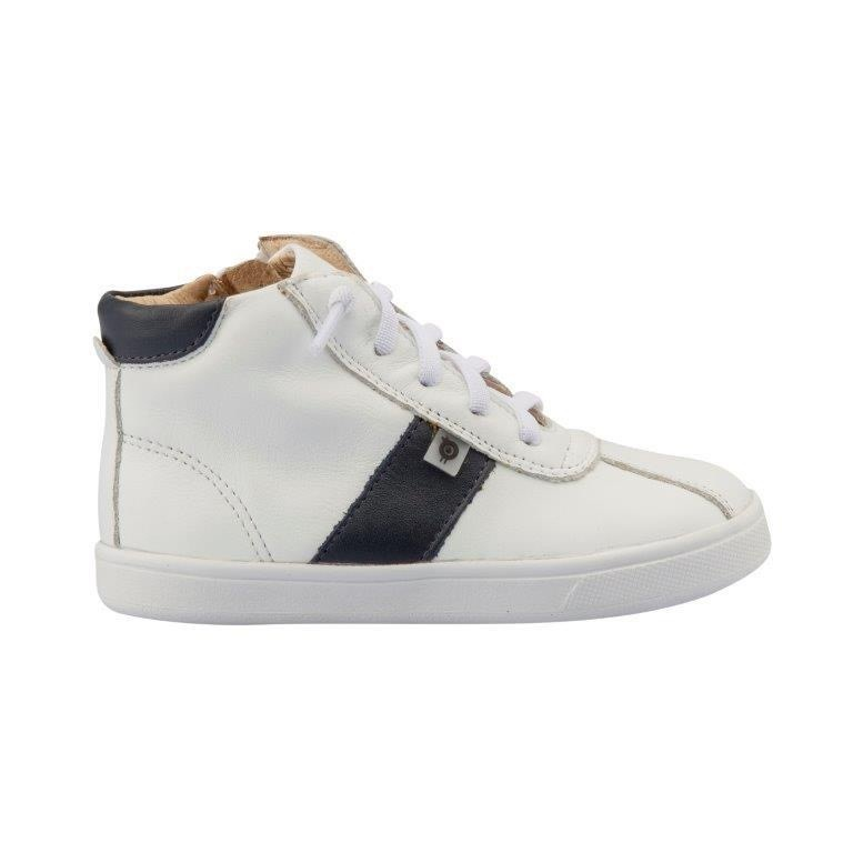 Oldsoles Oldsoles White & Navy High Top Boots