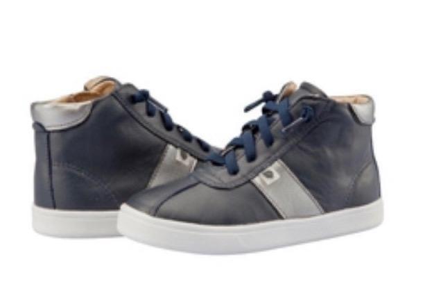 Oldsoles Oldsoles Navy & Silver Hi Top Boots