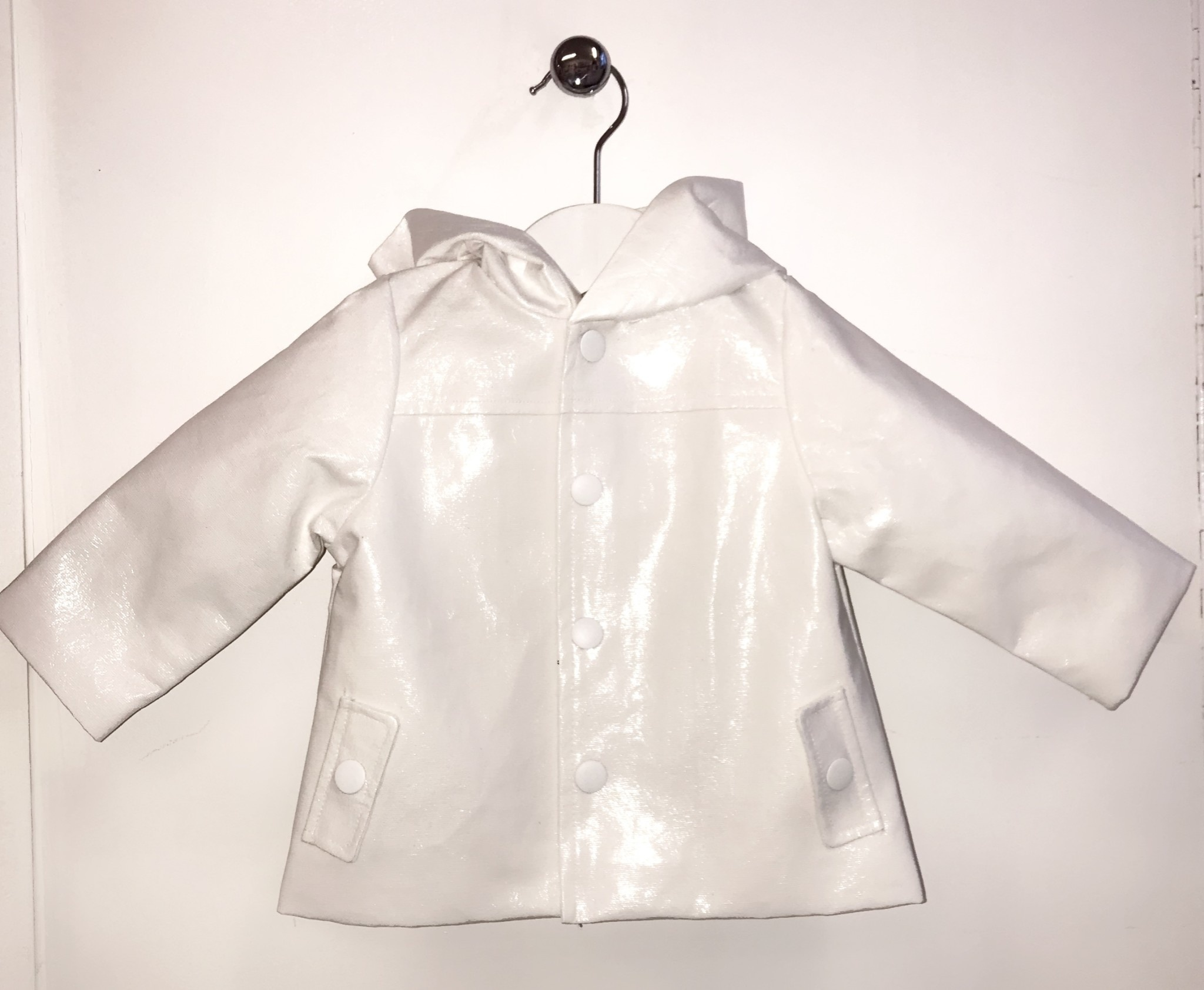 Little Lads White Waterproof Jacket