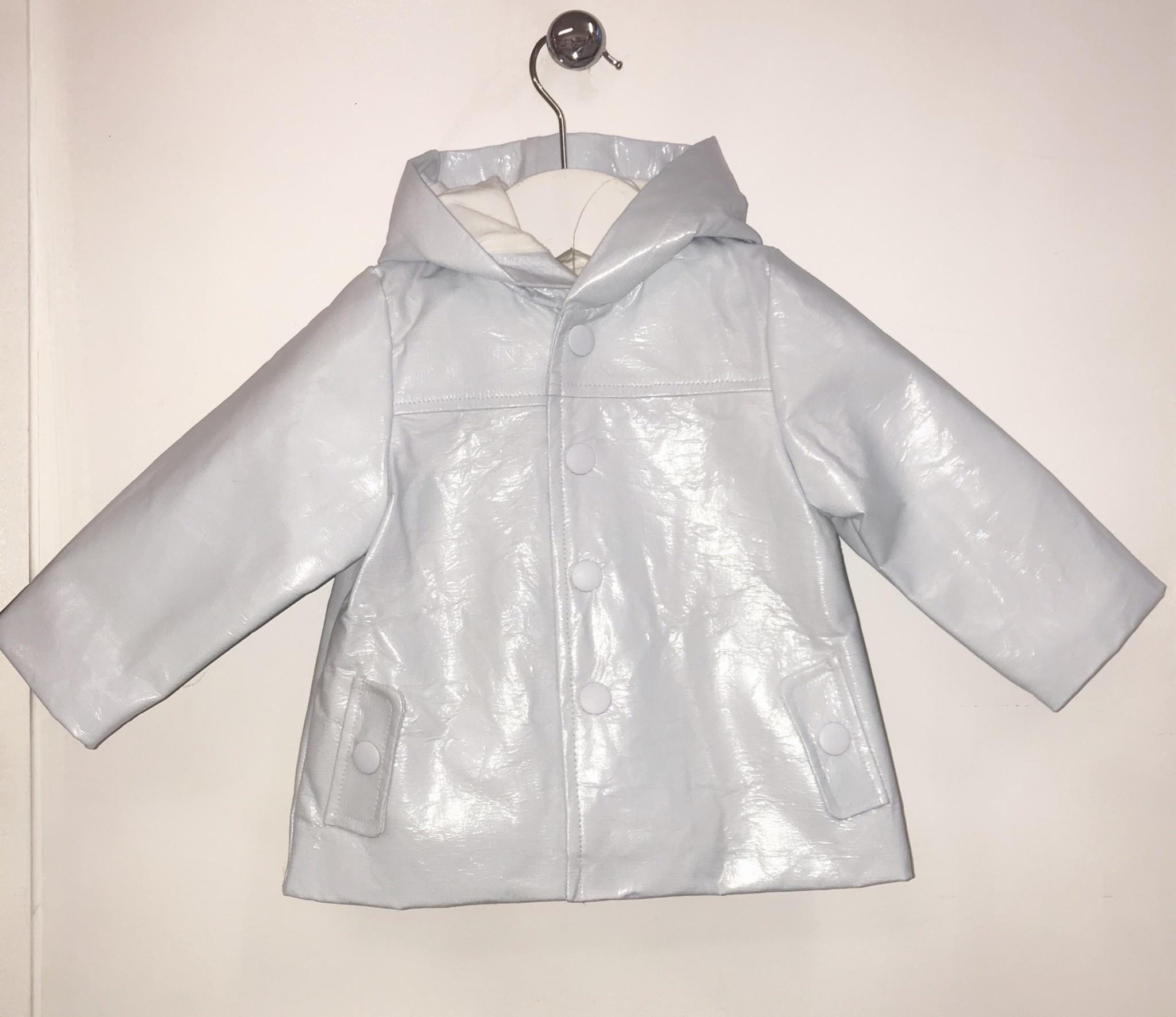 Little Lads Little Lads Pale Blue Waterproof Jacket