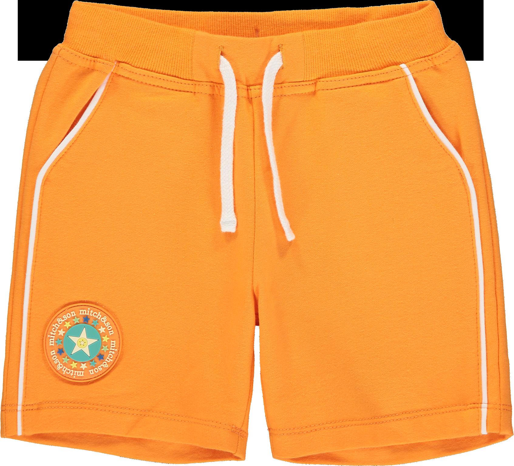 Mitch and Son Mitch & Son Aaron Orange Sweat Shorts