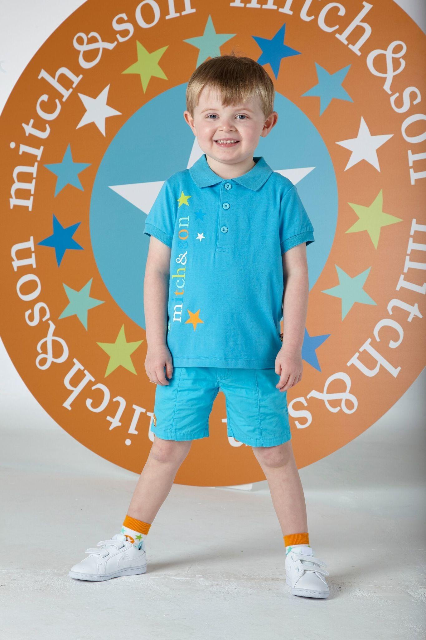 Mitch and Son Mitch & Son Grayson Blue Capri Poplin Shorts Shorts