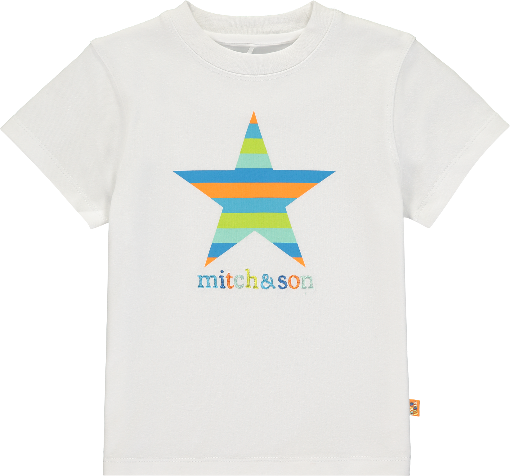 Mitch and Son Mitch & Son Andrew White Stripe Star T-Shirt