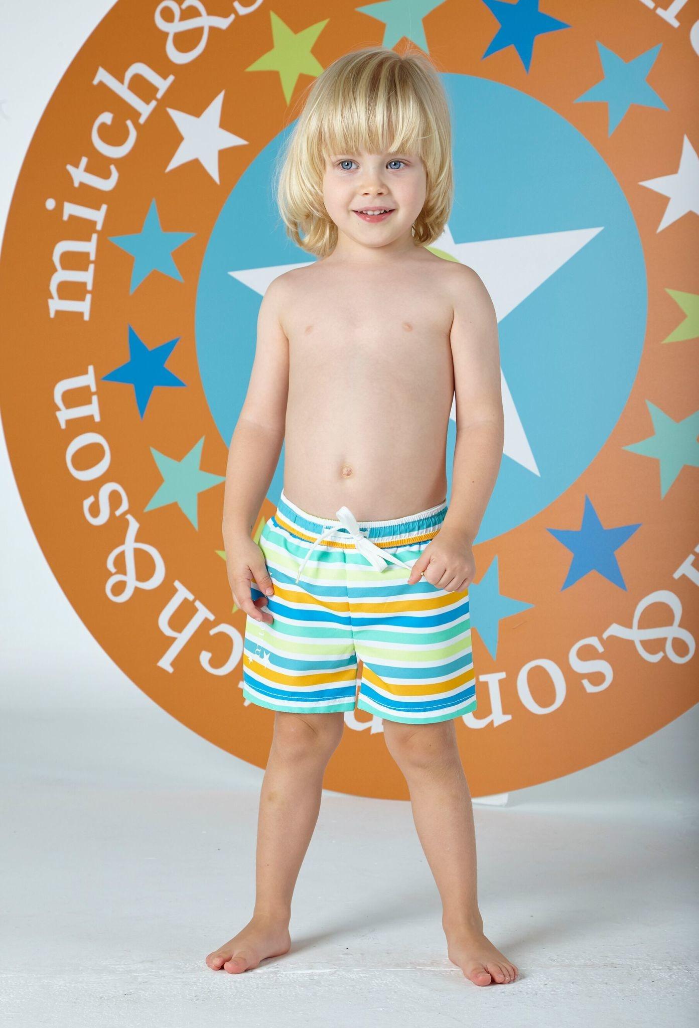 Mitch and Son Mitch & Son Thomas Stripe Swim Shorts
