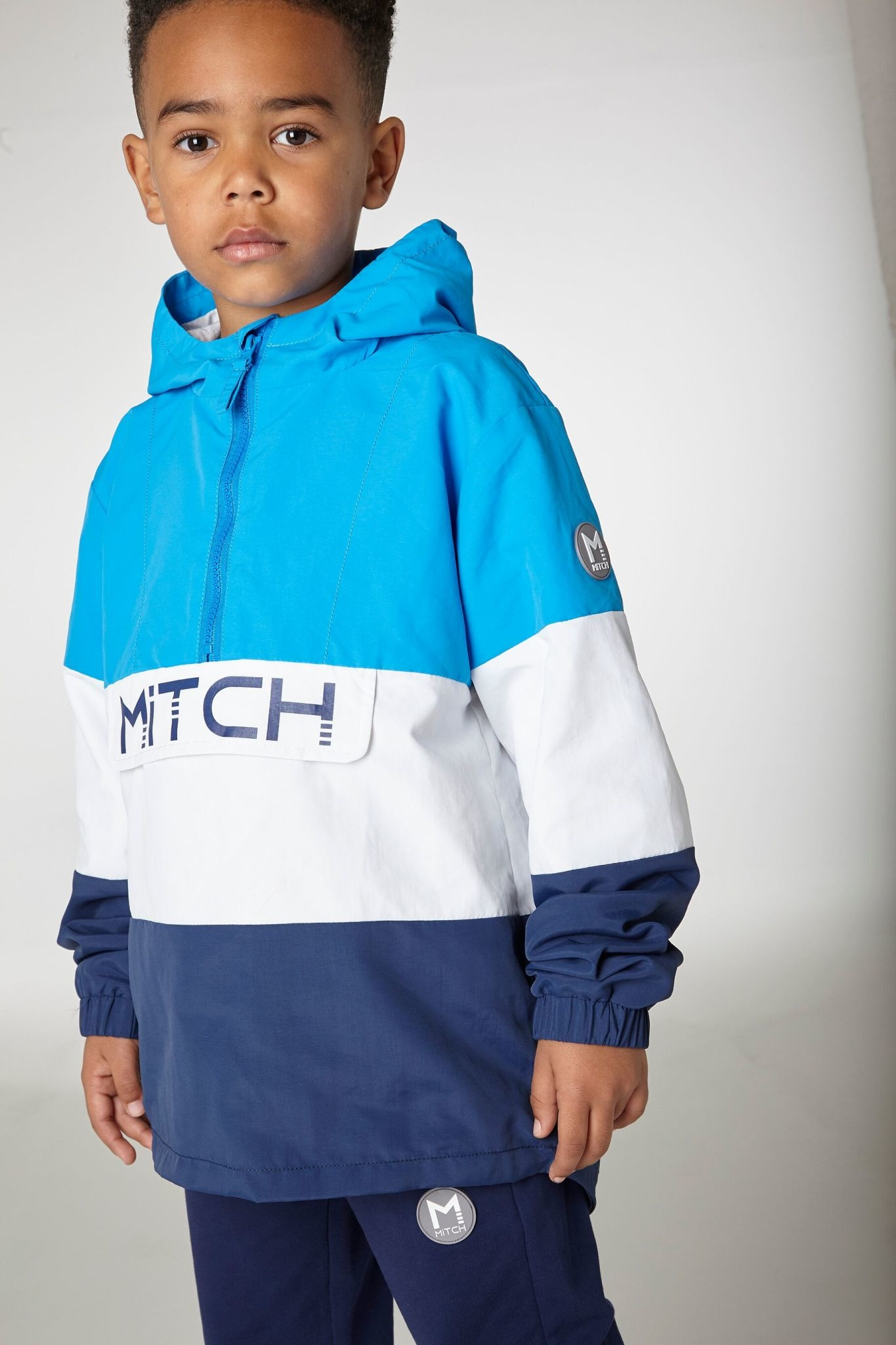 Mitch and Son Mitch Charles Dresden Blue Pull Over Jacket