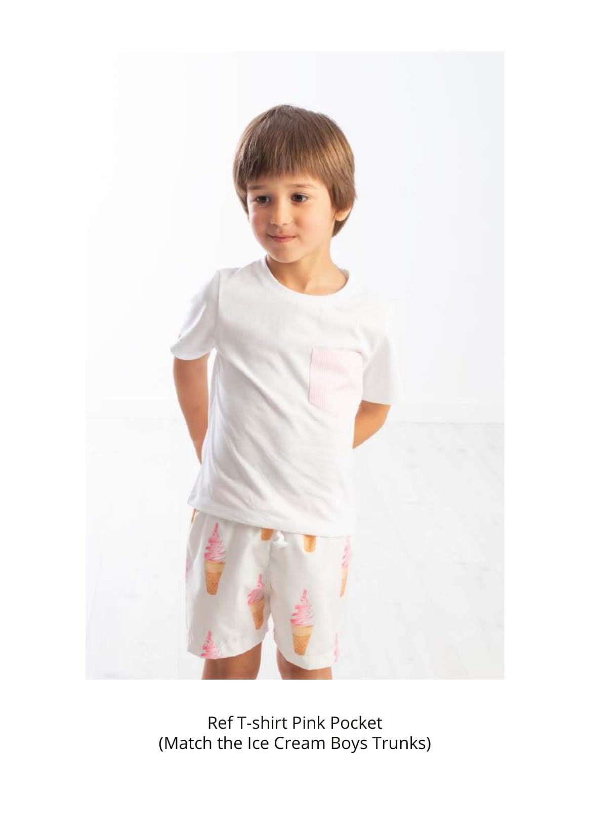 Meia Pata Meia Pata Ice-Cream Pink Stripe T-shirt